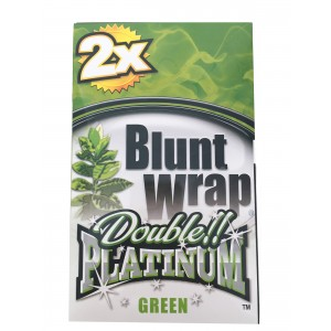 Blunt Wrap Double Platinum Green 25 x 2 Box