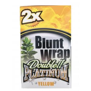 Blunt Wrap Double Platinum Yellow 25 x 2 Box