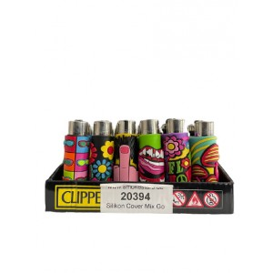 CLIPPER Feuerzeug Silikon Cover Mix Go