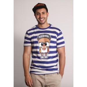 PANUU Harlem Tee (Streifen navy), T-Shirt