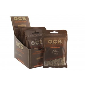 OCB Virgin Filter Unbleached Slim 6 mm, 10er Großpackung