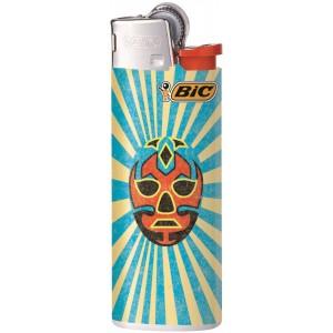 BiC Mini Feuerzeug Lucha Libre, blaue Streifen
