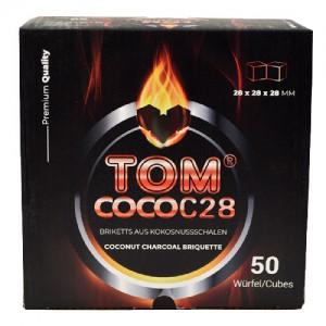 TOM Coco C28 1 kg Kokoskohle-Briketts