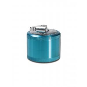 Kurbelgrinder Aluminium 4-tlg. hellblau