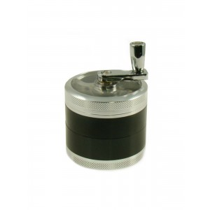 Kurbel Grinder Ø 55 mm, 3-teilig schwarz-silber