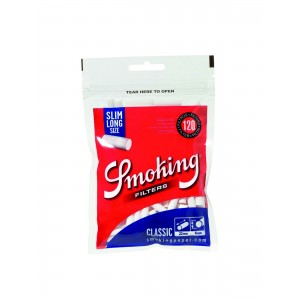 Smoking Classic Slim Long Filter (blau), 30er Box