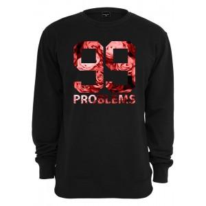 MISTER TEE 99 Problems Roses Crewneck schwarz