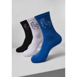 Salty Socks Triple Pack schwarz weiß blau