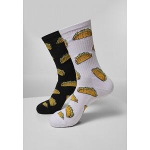 Taco Socks 2-Pack schwarz weiß