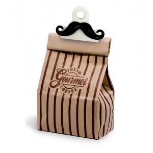 Mustache Beutel Clips 3er Set (Kikkerland)