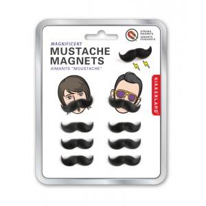 Mustache 8er Magnet Set (Kikkerland)