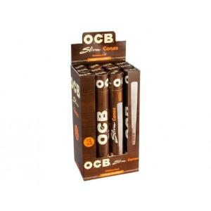 OCB Slim Cones Unbleached 12er Box