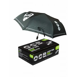 OCB Activ´Tips Slim 7mm, 10er Großpackung mit Gratis Regenschirm