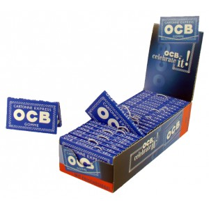OCB Blau Express N°4 Papers mit Gummizug, 25er Box
