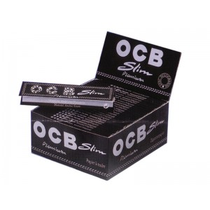 OCB Schwarz Premium Slim Long Papers, 50er Box