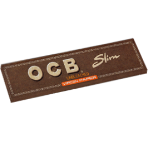 OCB unbleached Virgin King Size Slim Papers, 50er Box