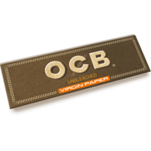 OCB unbleached Virgin Single Papers, 50er Box