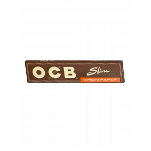 OCB unbleached Virgin King Size Slim Papers, Heftchen einzeln