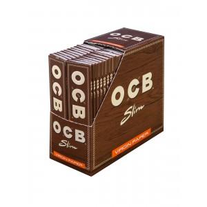 OCB unbleached Virgin King Size Slim Papers, 50er Box