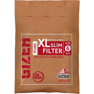 GIZEH PURE XL Slim Filter 6 x 19 mm, 10 x 120er