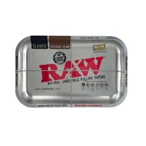 RAW Metal Rolling Tray metallic silver small