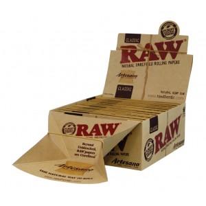RAW Artesano King Size Slim + Tips + Drehunterlage, 15er Großpackung