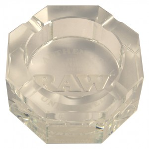 RAW Crystal Ashtray Aschenbecher, Glas