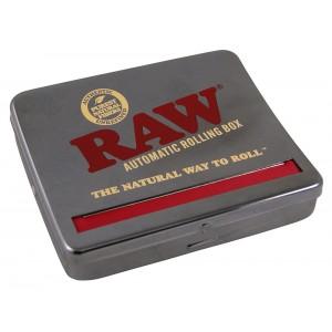 RAW King Size Roll Box 110mm schwarz-chrom