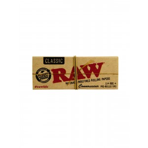 RAW Connoisseur 1 1/4 + prerolled Tips