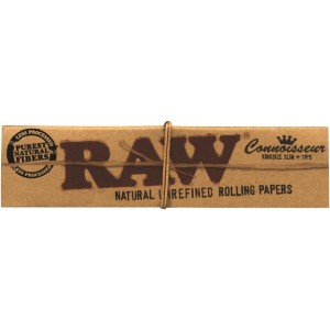RAW Connoisseur Kingsize Slim + Tips, Heftchen einzeln