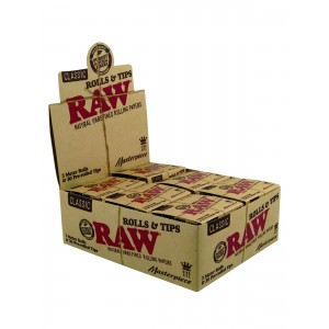 RAW Masterpiece Rolls mit Prerolled Tips, 12er Box
