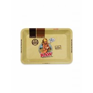 RAW Metal Rolling Tray Girl Drehunterlage - mini