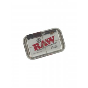 RAW Metal Rolling Tray metallic silver medium
