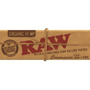 RAW Organic 1 1/4 Connoisseur Papers + Tips, Heftchen einzeln