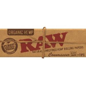 RAW Organic 1 1/4 Connoisseur Papers + Tips Heftchen einzeln