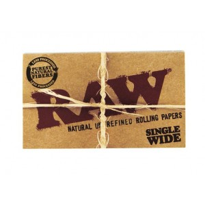 RAW Classic Single Wide Double Papers, Heftchen einzeln