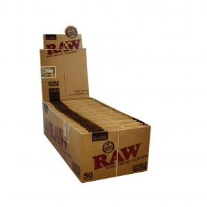 RAW Classic Single Wide Papers, 50er Box