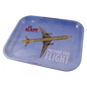 RAW Metal Rolling Tray Flying Drehunterlage - medium