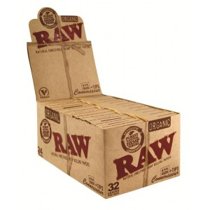 RAW Organic 1 1/4 Connoisseur Papers + Tips, 24er Box