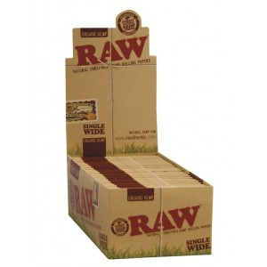 RAW Organic Single Wide Papers, 50er Box