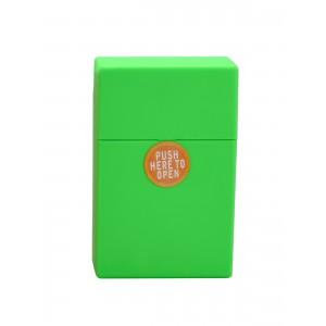 Zigaretten Click Box Neongrün (Rubbertouch)