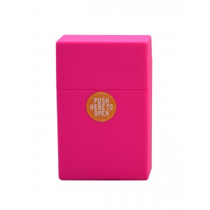 Zigaretten Click Box Neonpink (Rubbertouch)