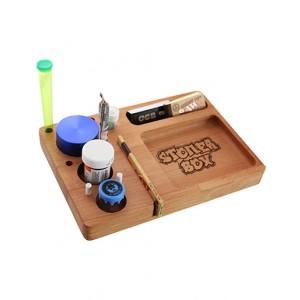 Rolling Tray 'StonerBox' 23x16 cm Buchenholz