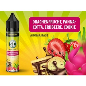 SC Vape Base - Drachenfrucht, Pannacotta, Erdbeere, Cookie 50 ml - 0 mg