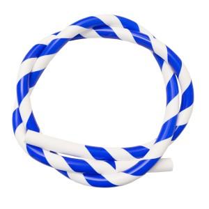 Silikon Shisha-Schlauch blau-weiss (Sama)