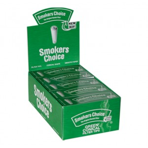 Smokers Choice Green Conical SLIM Filter-Tips, einzeln