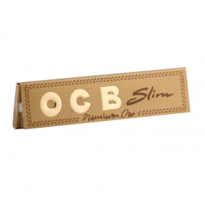OCB Gold Premium Oro Slim Long Papers, Heftchen einzeln
