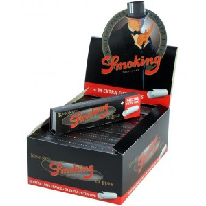 Smoking De Luxe King Size Papers + Tips, 24er Box