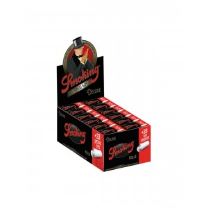 Smoking Deluxe Rolls + Tips Endlospaper 24 er Box