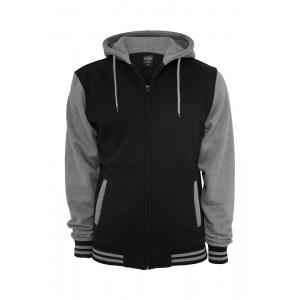 URBAN CLASSICS 2-Tone Zip Hoody schwarz-grau